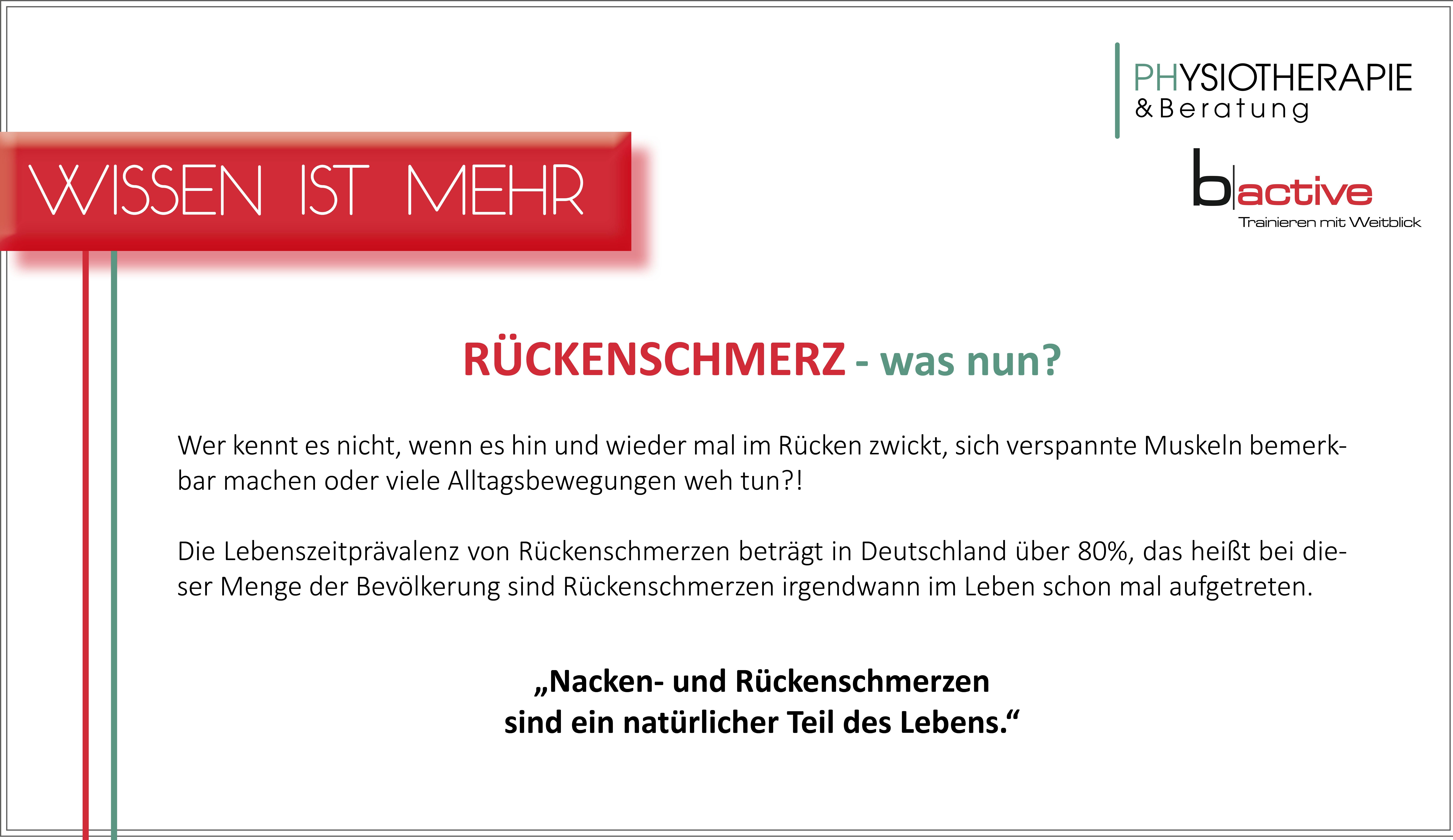 Newsletter Rückenschmerz in Kooperation mit b-active Gesundheitsstudio in Möglingen